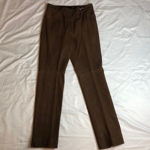 ESCADA Vintage Brown lined leather Pants
